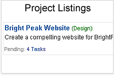 Project Listings